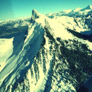 Flight over Switzerland Mountain