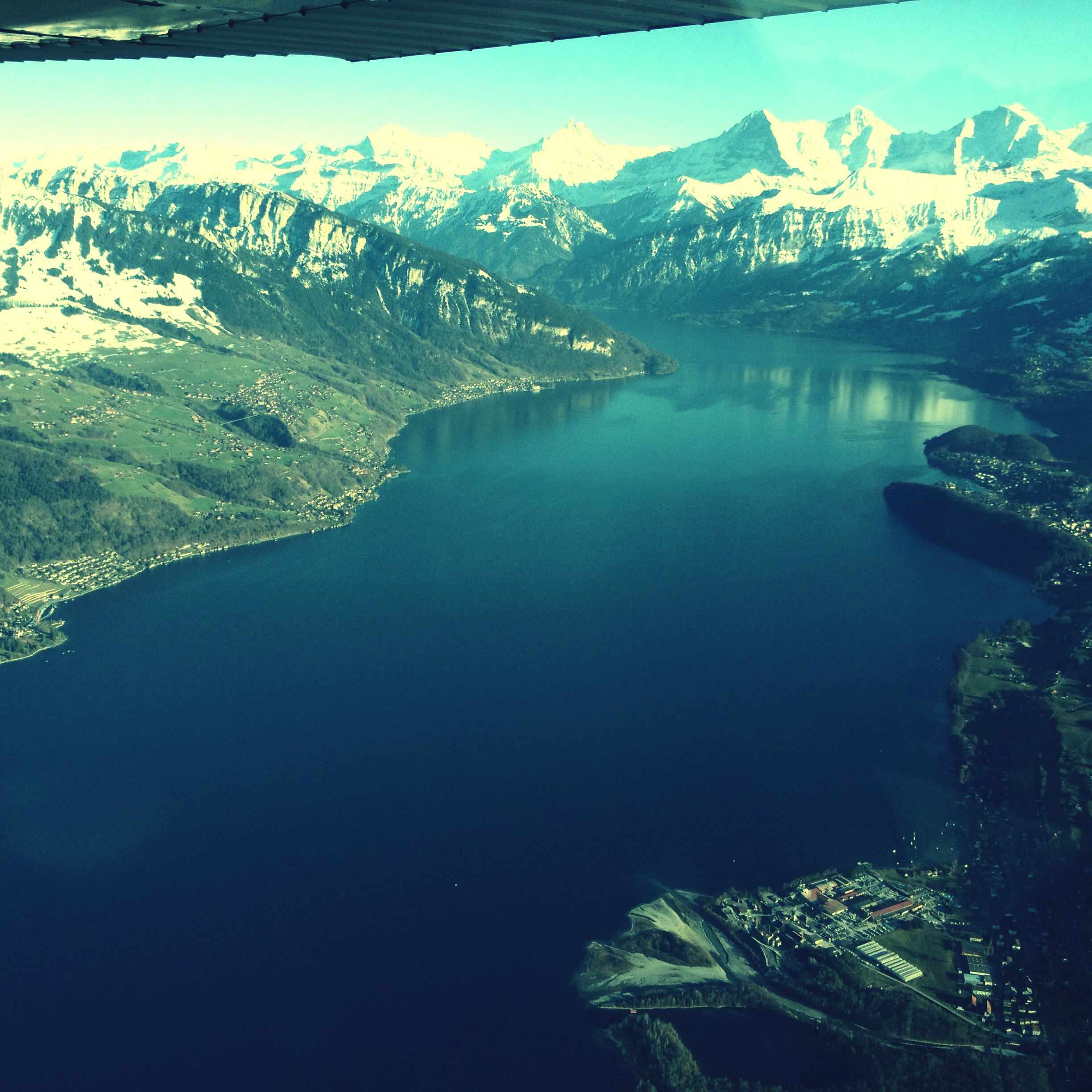 Flight over Switzerland Thunersee
