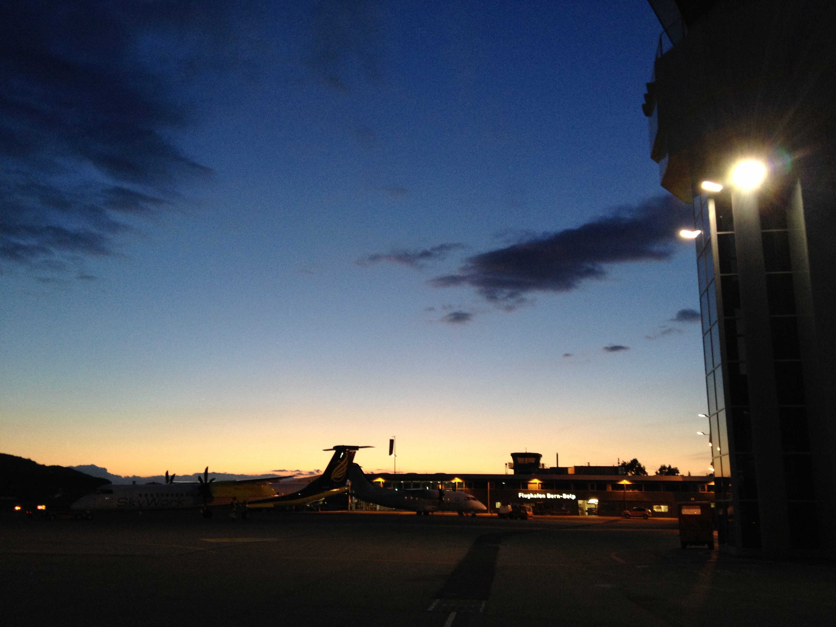 Sunset @ Flughafen Bern BRN
