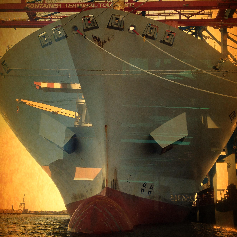 Cosco @ Hamburg Hafen