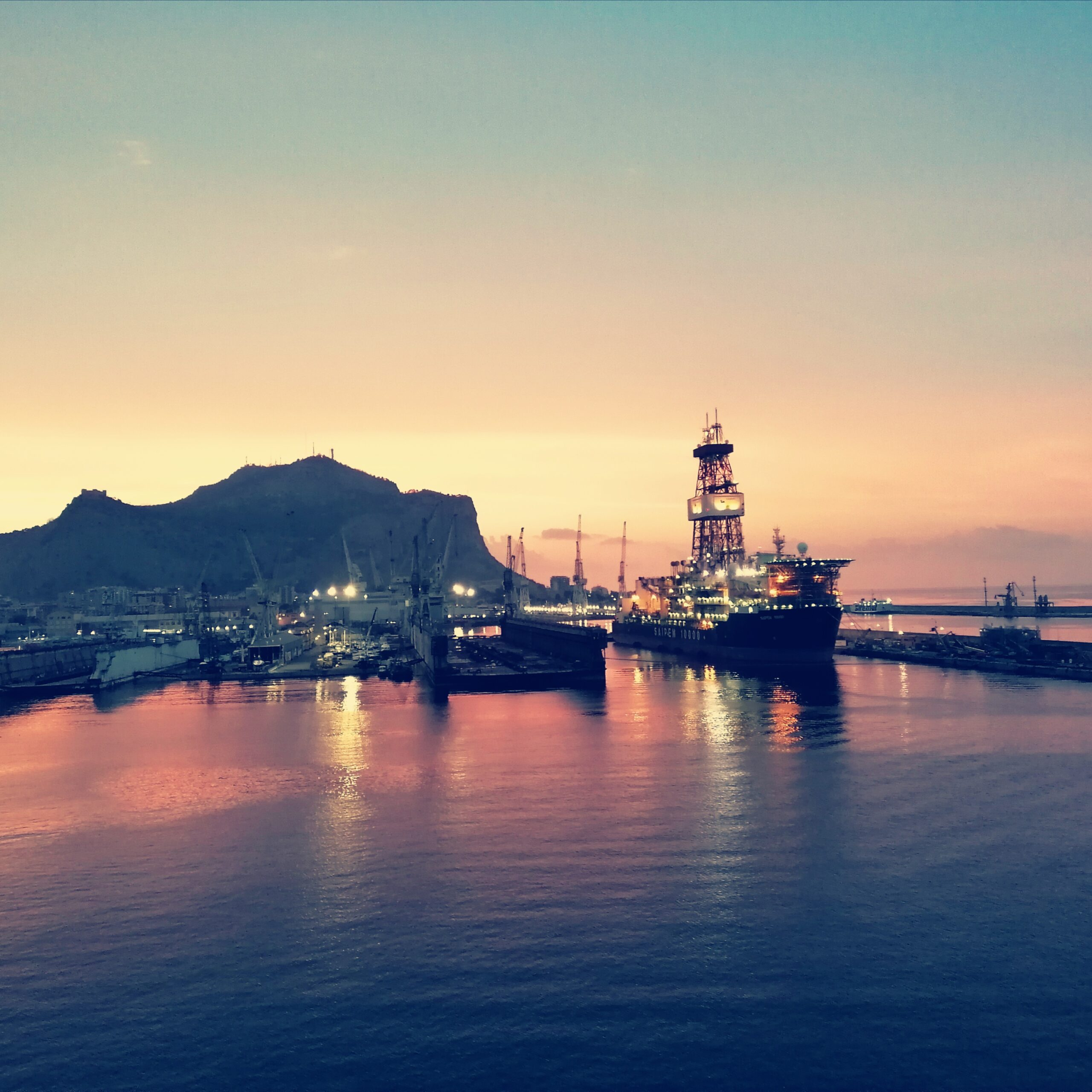 Coucher du Soleil @ Port de Palermo